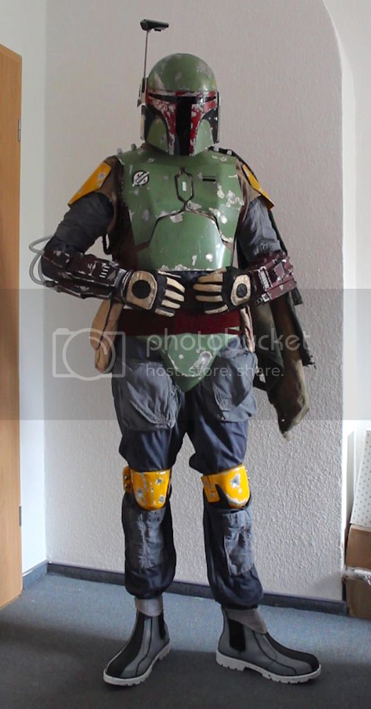 Boba Fett gauntlet rocket Mandalorian armor aluminum and brass