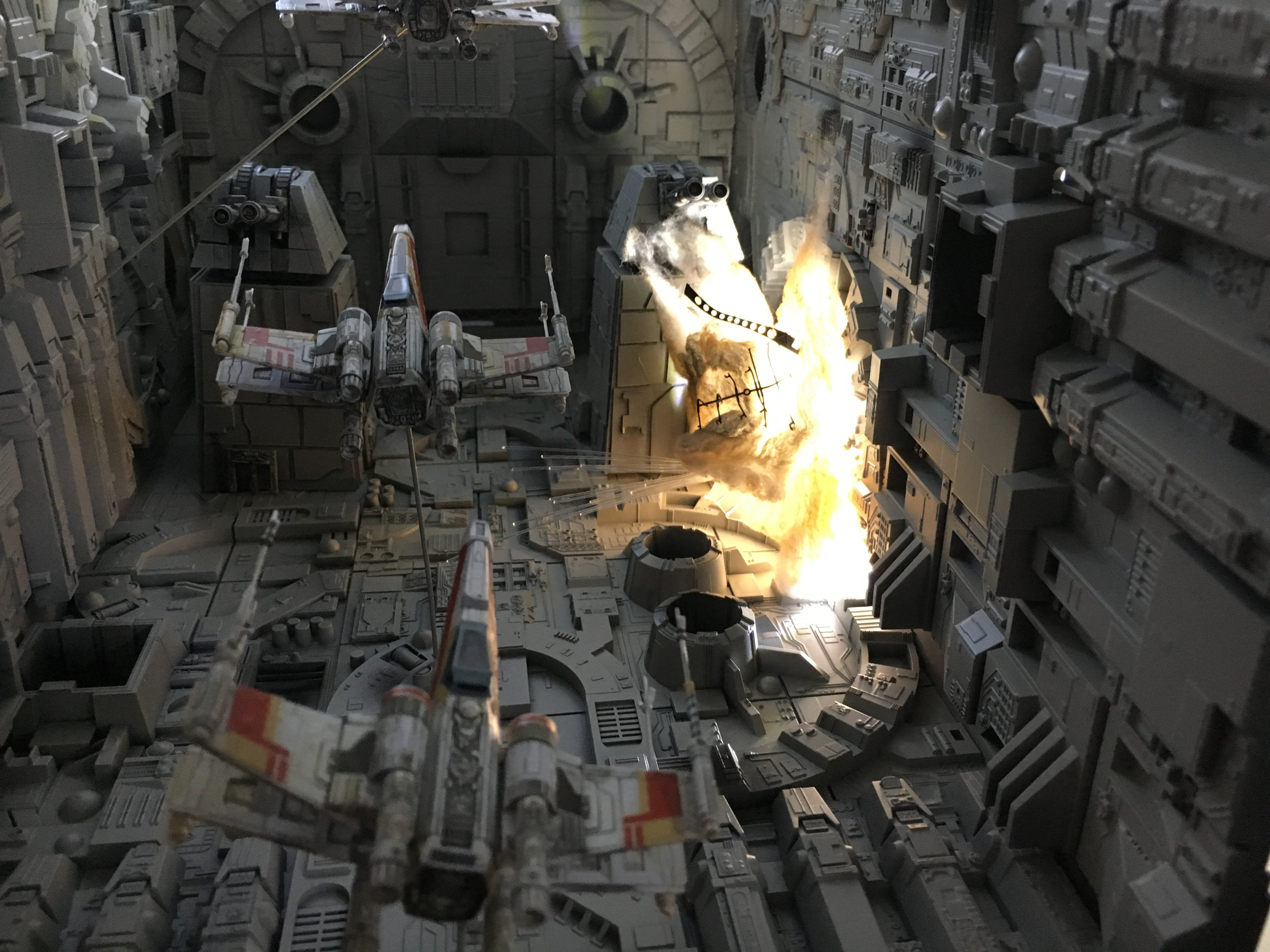 1/144 Death Star Trench diorama from Bandai Attack Set | RPF