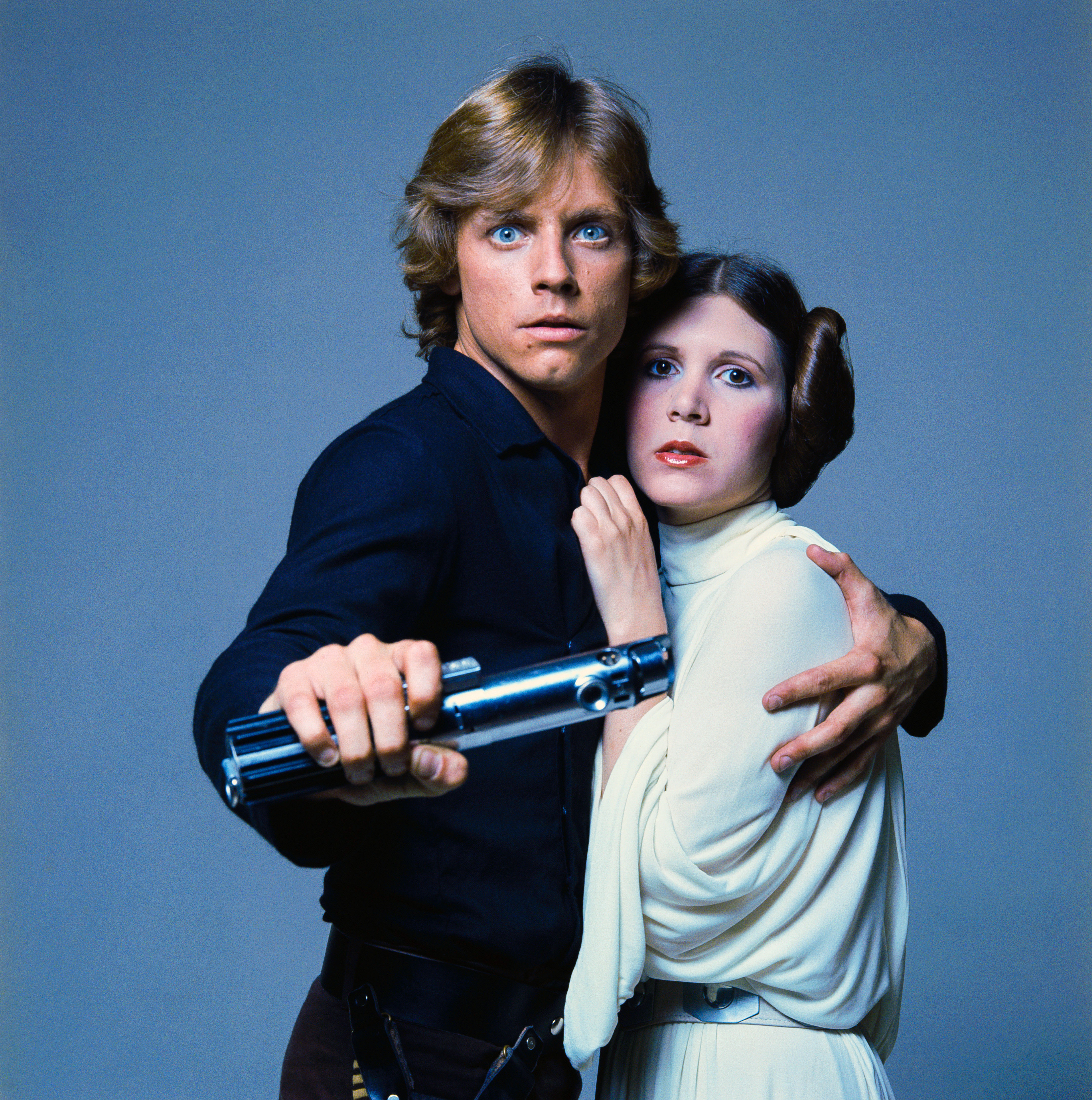 ANH Graflex - Mark Hamill and Carrie Fisher as Luke Skywalker and Princess Leia 1977 photo by ...jpg