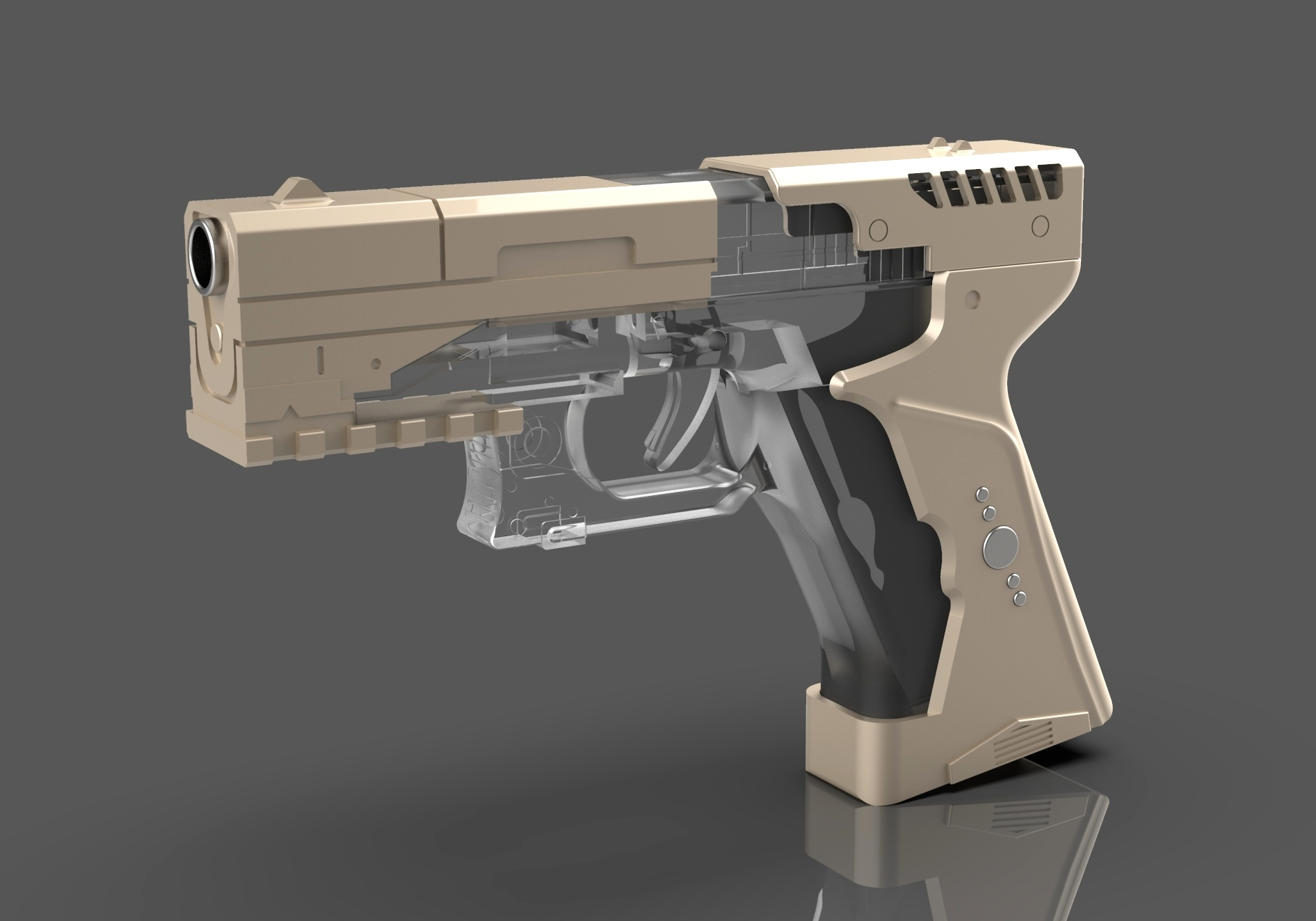 Limited Run Resin Cast Thermoptic Pistol Ghost In The Shell 2nd Run Interest List Rpf Costume And Prop Maker Community