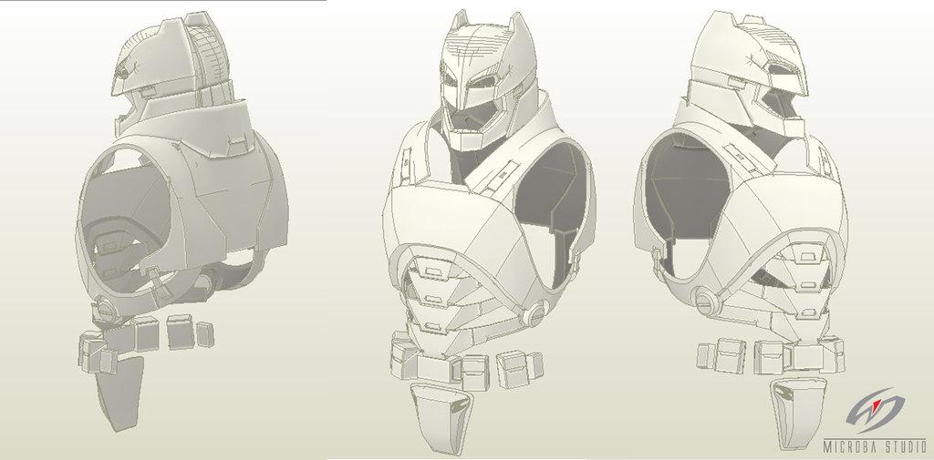 Batman cowl mask papercraft free download.