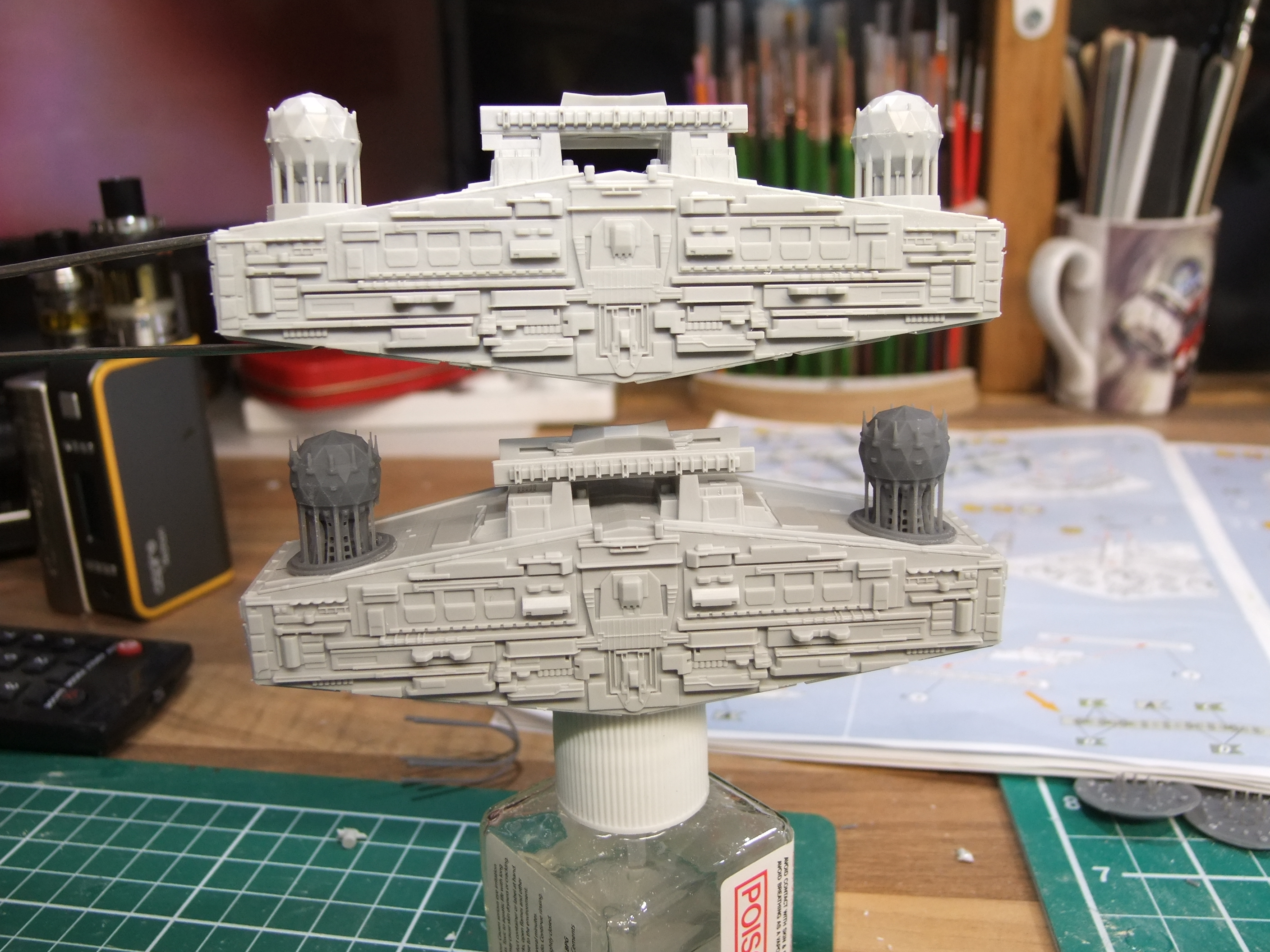 Falcon3Dparts details upgrade set for Zvezda/Revell's 1/2700th Star