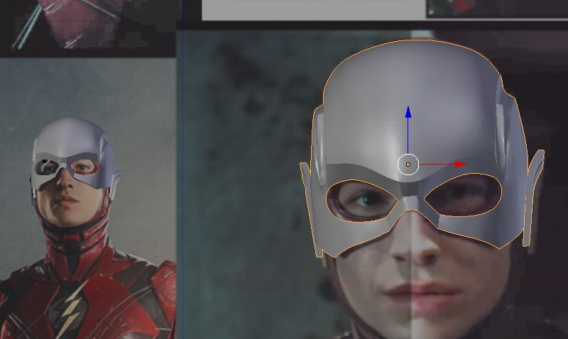 Justice League , The Flash Cowl / Helmet , Ezra Miller (3D