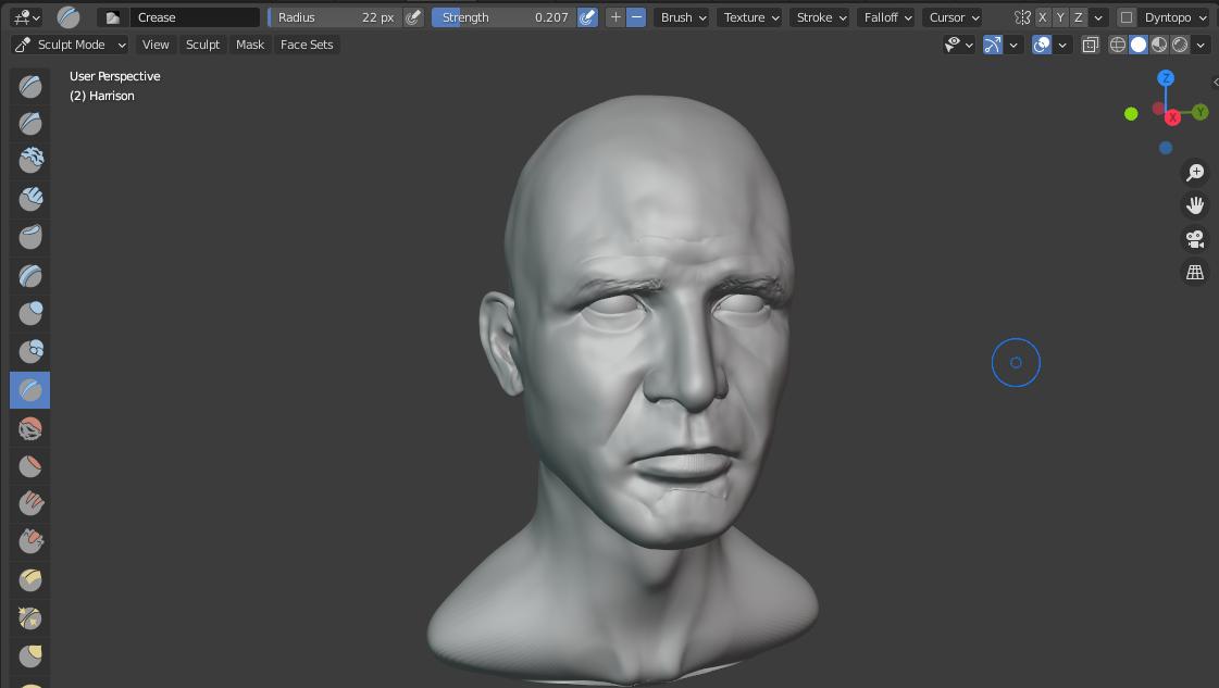 Harrison Ford 3D Progress 15.png