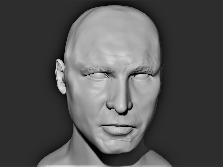 Harrison Ford 3D Progress 24 - Render w_Lights.png