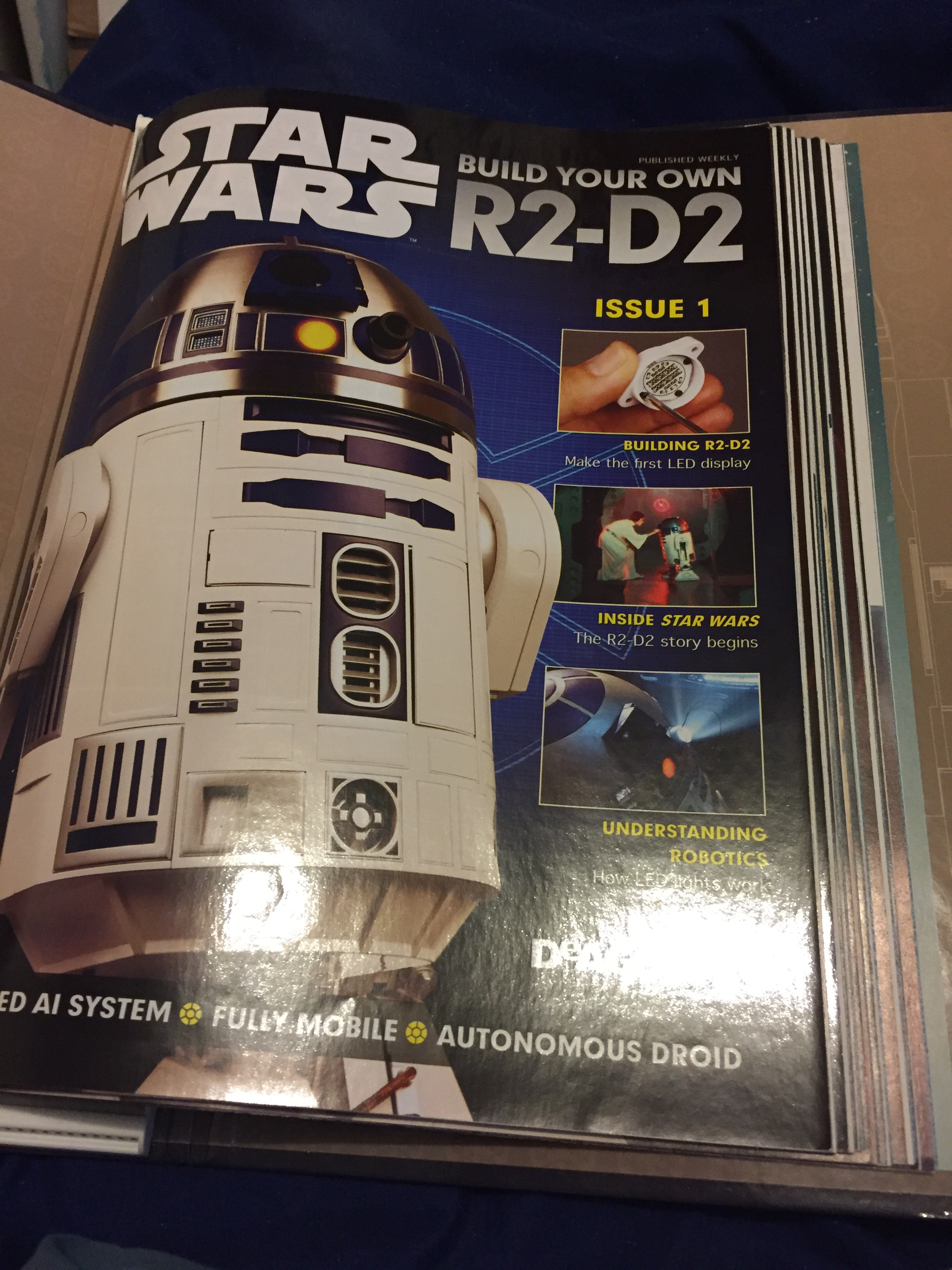 1:2 SCALE DEAGOSTINI STAR WARS BUILD YOUR OWN R2-D2 ISSUE 47 COMPLETE WITH PART