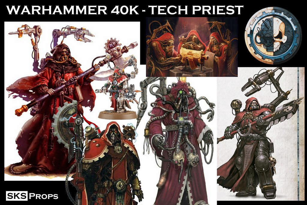 Warhammer 40K Tech Priest Cosplay - SKS Props Updated 8/24/2018