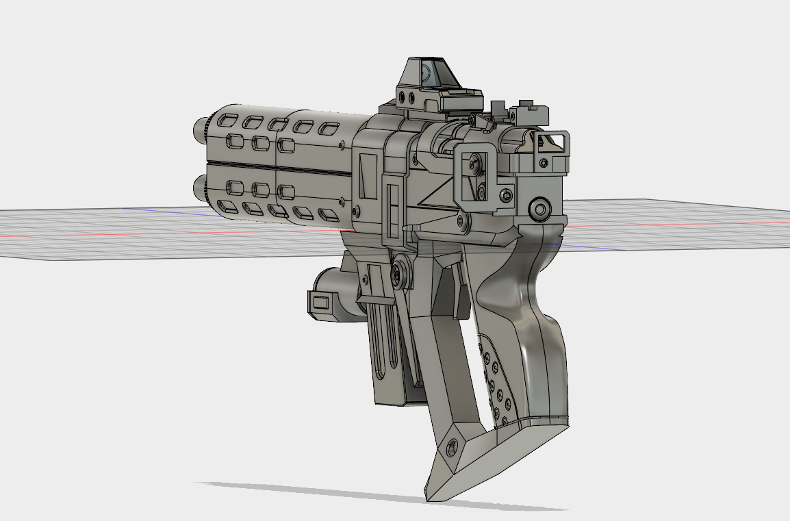 Borderlands 2 Infinity Pistol(s) WIP - 3D Modeled, printed, and