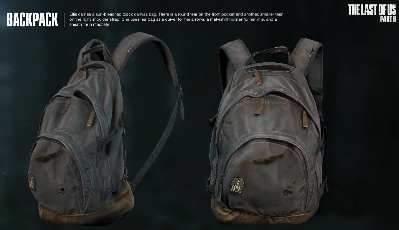 The Last Of Us Part 2 Ellie Backpack Rpf Costume And
