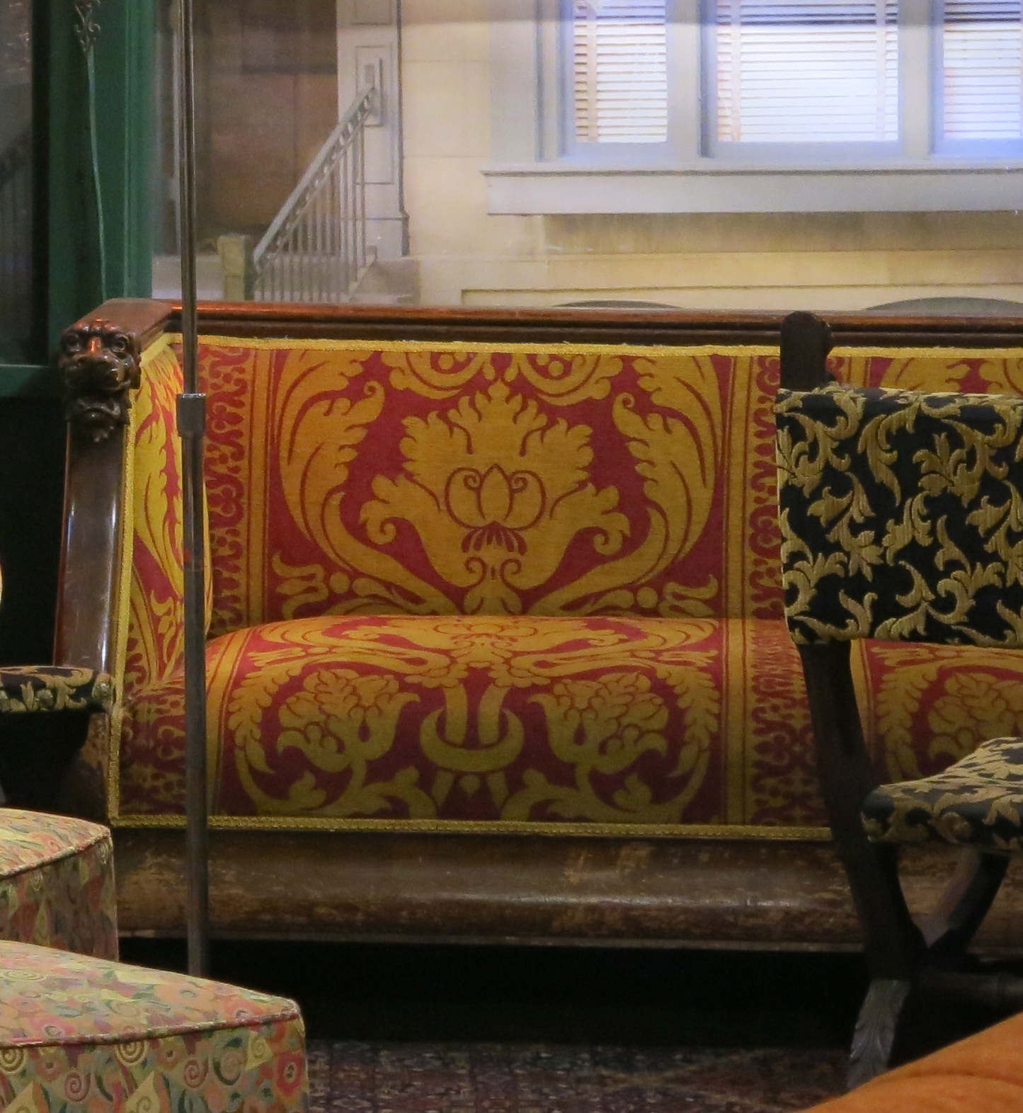 red and gold love seat.jpg