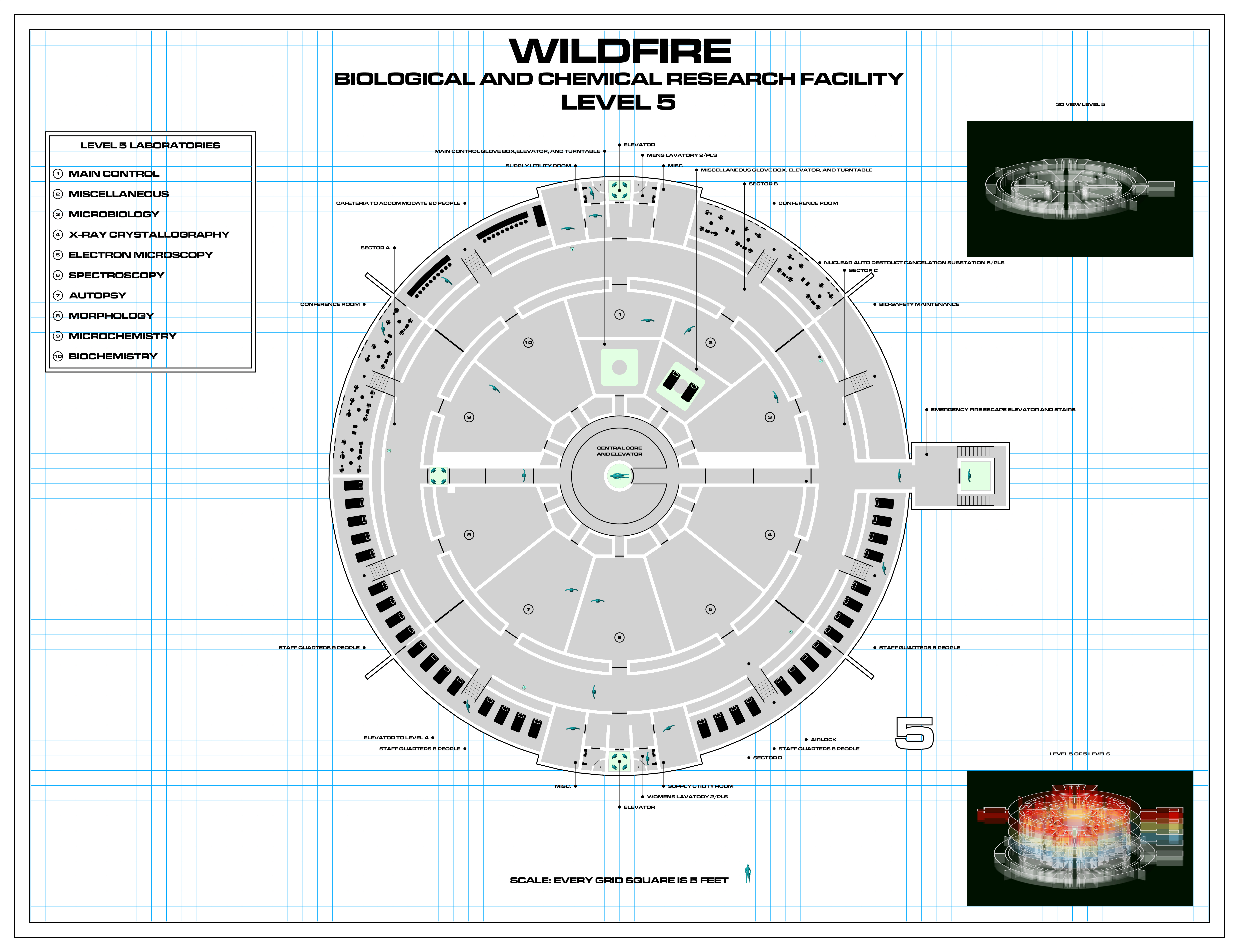 the andromeda strain wildfire complex (fan made) rpf costume and Andromeda Strain 2009 view attachment the andromeda strain wildfire facility level 1 jpg view attachment the andromeda strain wildfire facility level 2 jpg view attachment the
