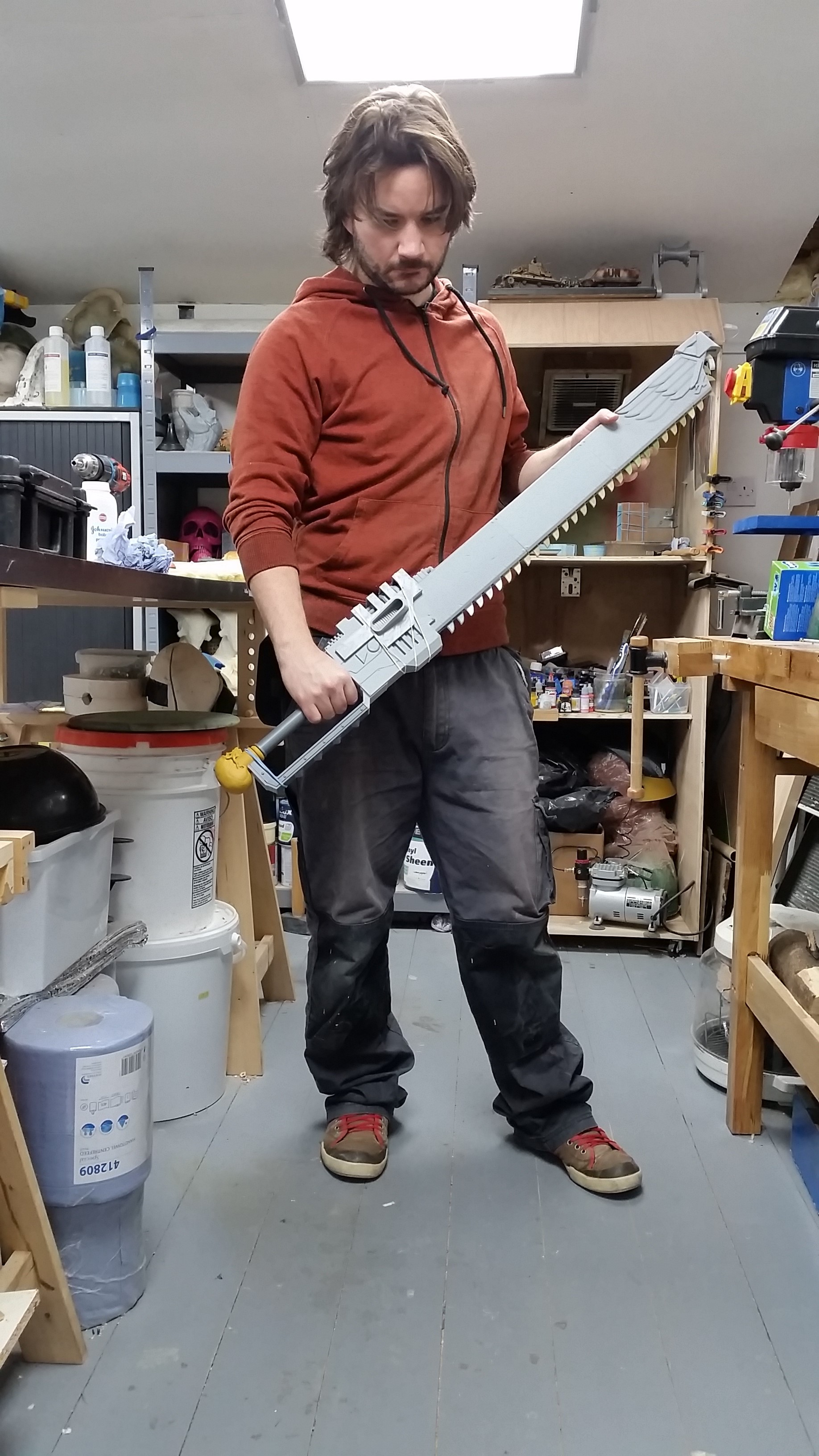 Warhammer 40K Chainsword- 3D model, print and paint | RPF