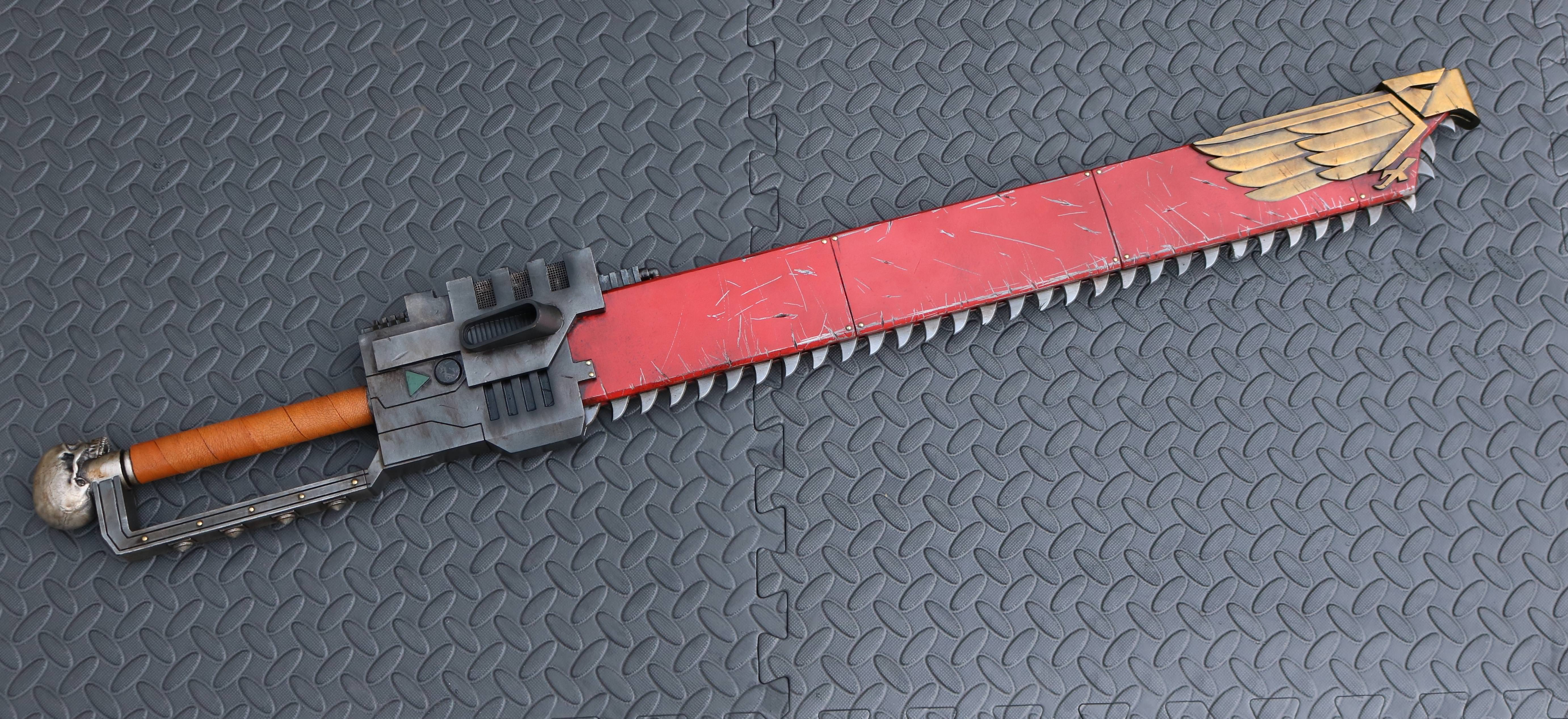 Warhammer 40K Chainsword- 3D model, print and paint   RPF Costume