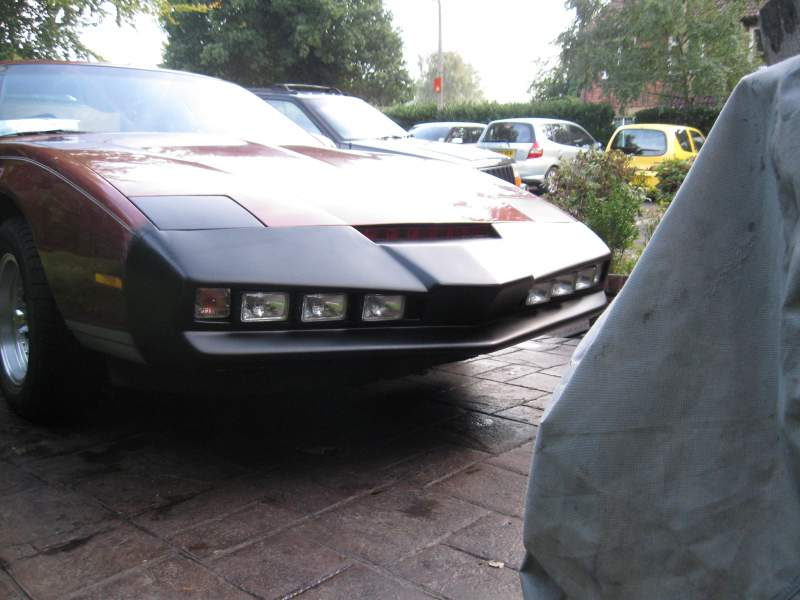 1989 Pontiac with Knight rider Front end, remote scanner light and sound.