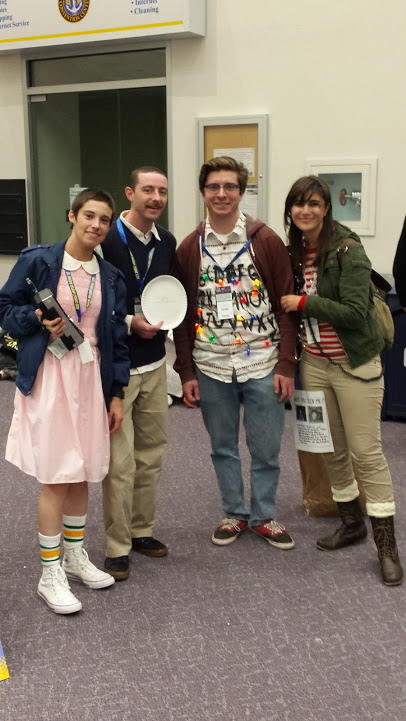 2016/11/12 Meeting other Stranger Things fans at RICC 2016, my friend Pete is standing right next to me dressed as Mr. Clarke.