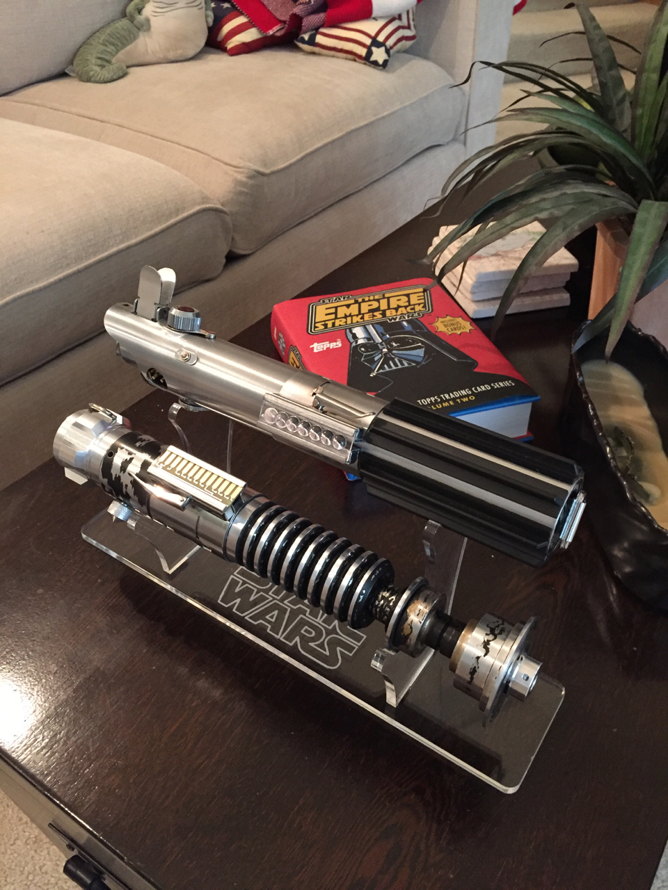 Anakin Starkiller Unibody V2 from 2017, alongside a Romans ANH Graflex.