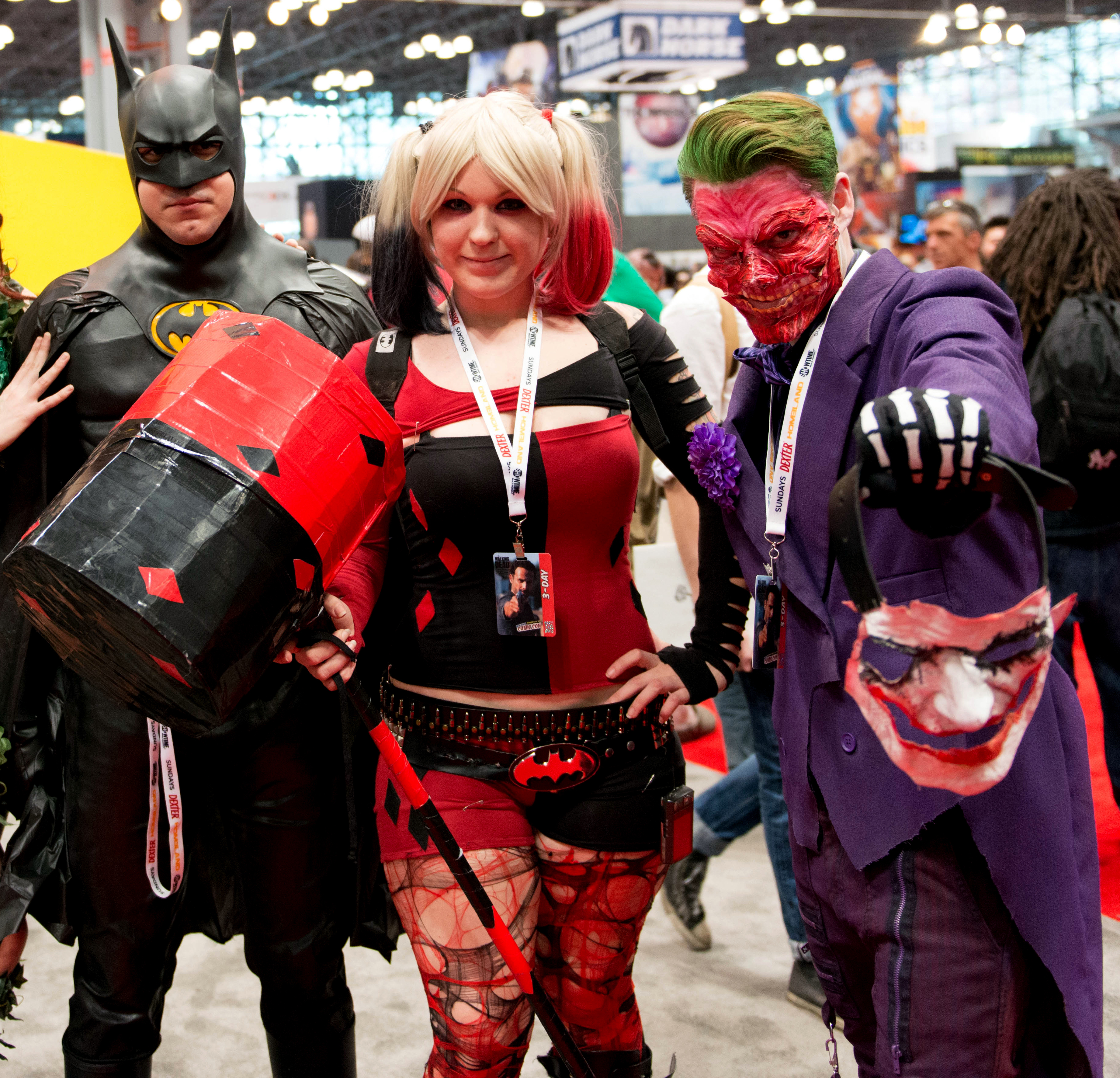 Batman, Joker, & Harley