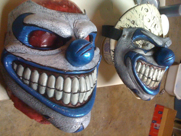 Blacktooth Creations Clown V1 and V2, masks sculpt & cast by Ryan Swaney, paint by Nivek Murphy