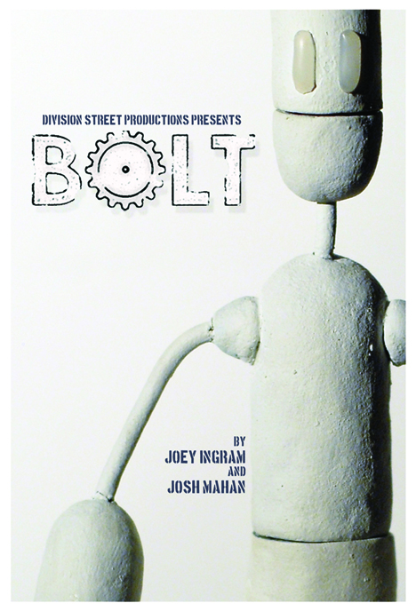 Bolt - movie poster for one of my short films.