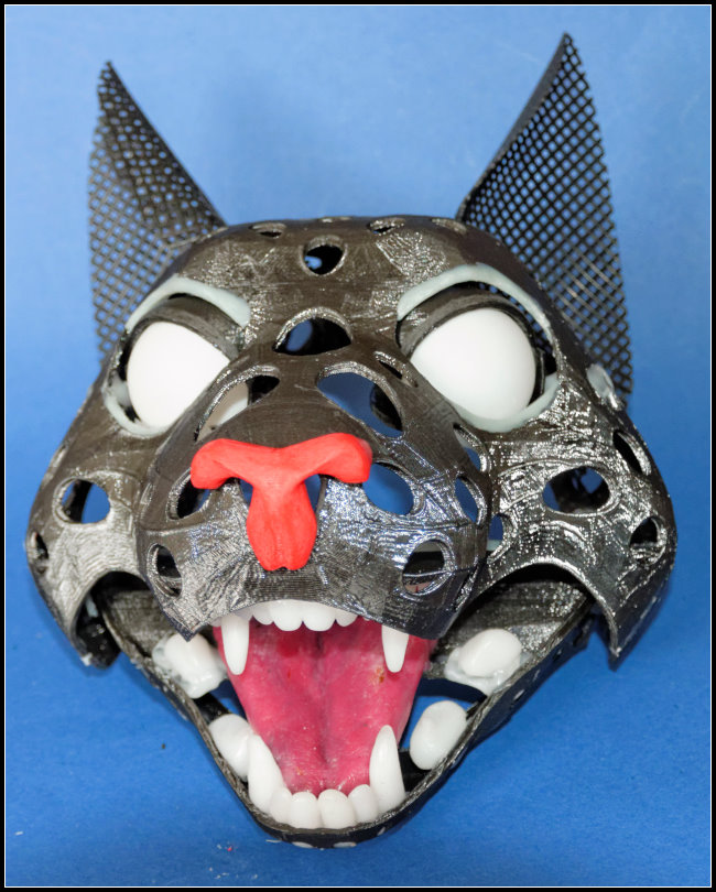 cat puppet nose eyes teeth | RPF Costume and Prop Maker