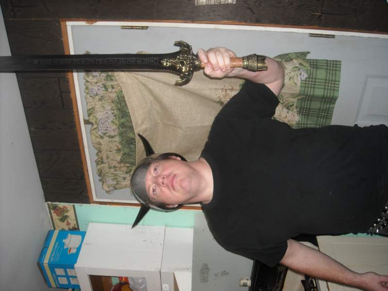 cheesy pose I know,but how many of us who has sword in hand hasn't done this @ least one time?