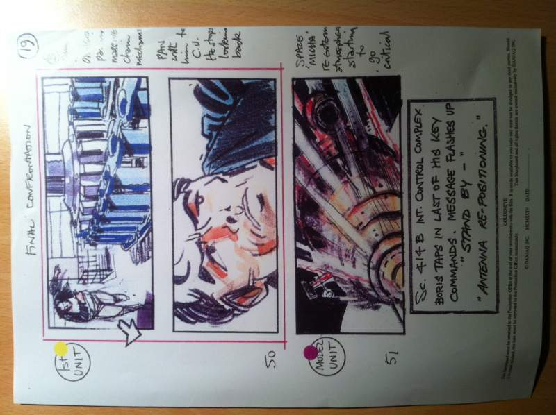 Colour Storyboard From Goldeneye