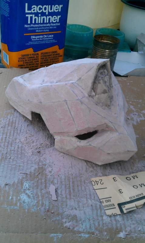 Covered in Bondo and sanded down