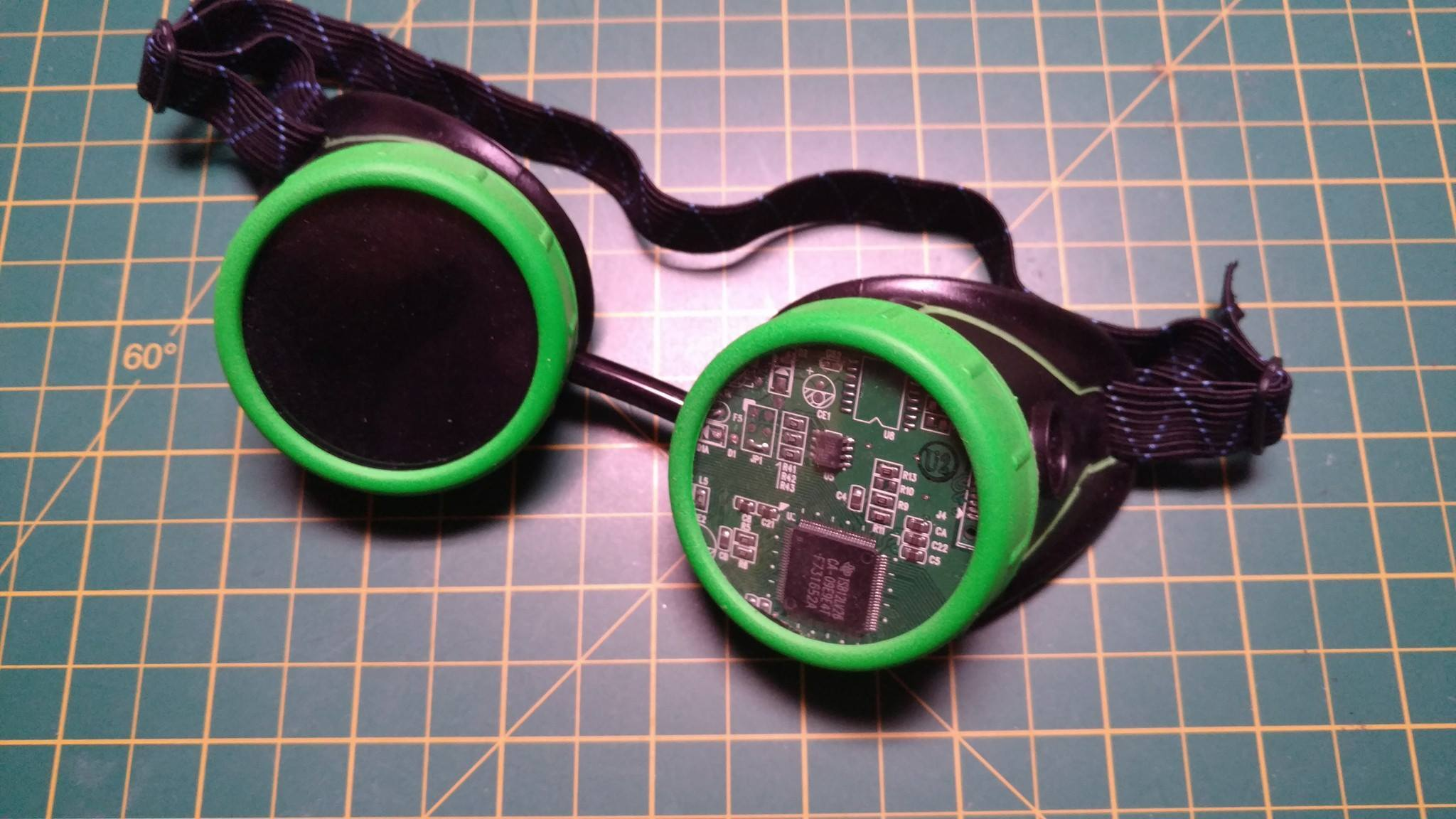 Cyberpunk Goggles, with PCB lens
