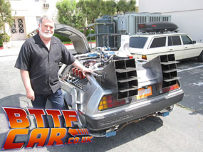 Dean Cundey Back to the Future Delorean Time machine Hire