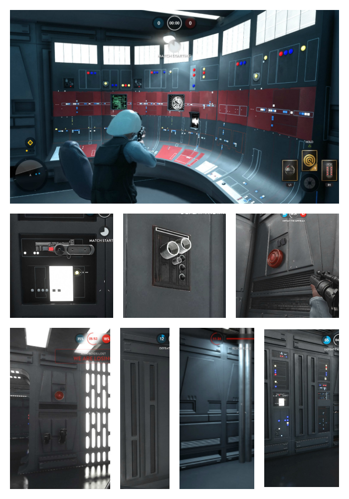 Death Star wall study