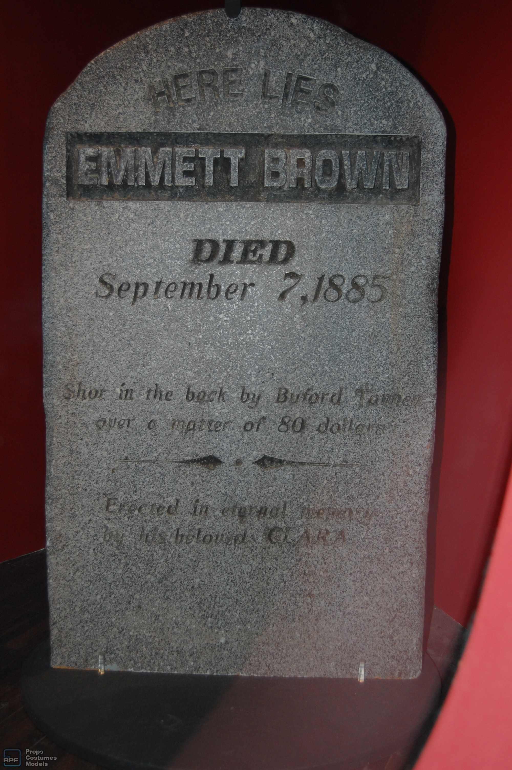 Doc Brown's tombstone