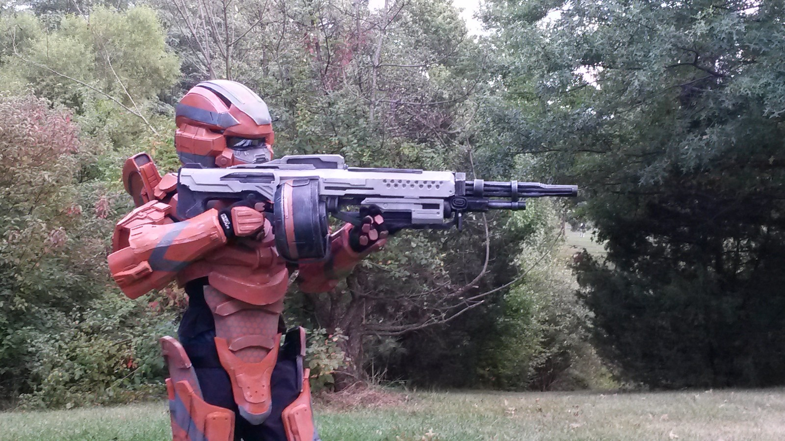 Halo 4 Master Chief and Warrior 2013 Halloween Costume Contest Entry-1