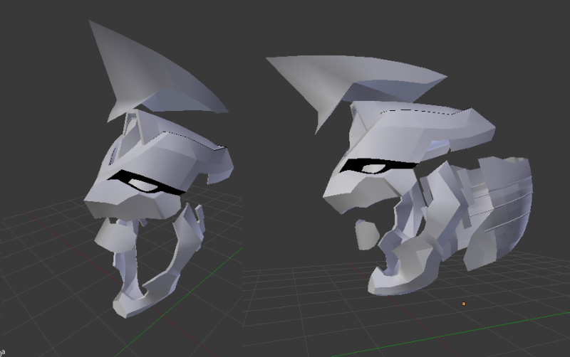 Helmet saved into a separate file so I can pep it. I will also make a separate file for each set of pieces (ex: torso, upper arm, gauntlet, thigh, etc