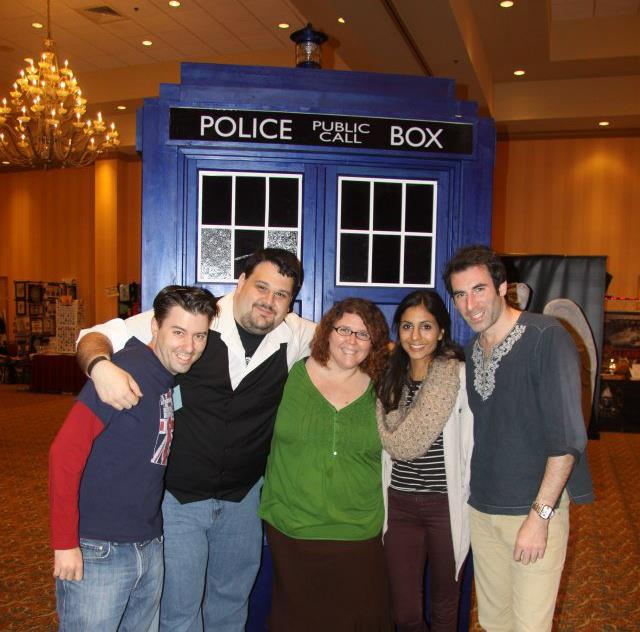 Left to Right: Brian, me, Michelle, Anjli Mohindra (Rani Chandra from The Sarah Jane Adventures) and Paul Marc Davis (The Trickster from The Sarah Jan