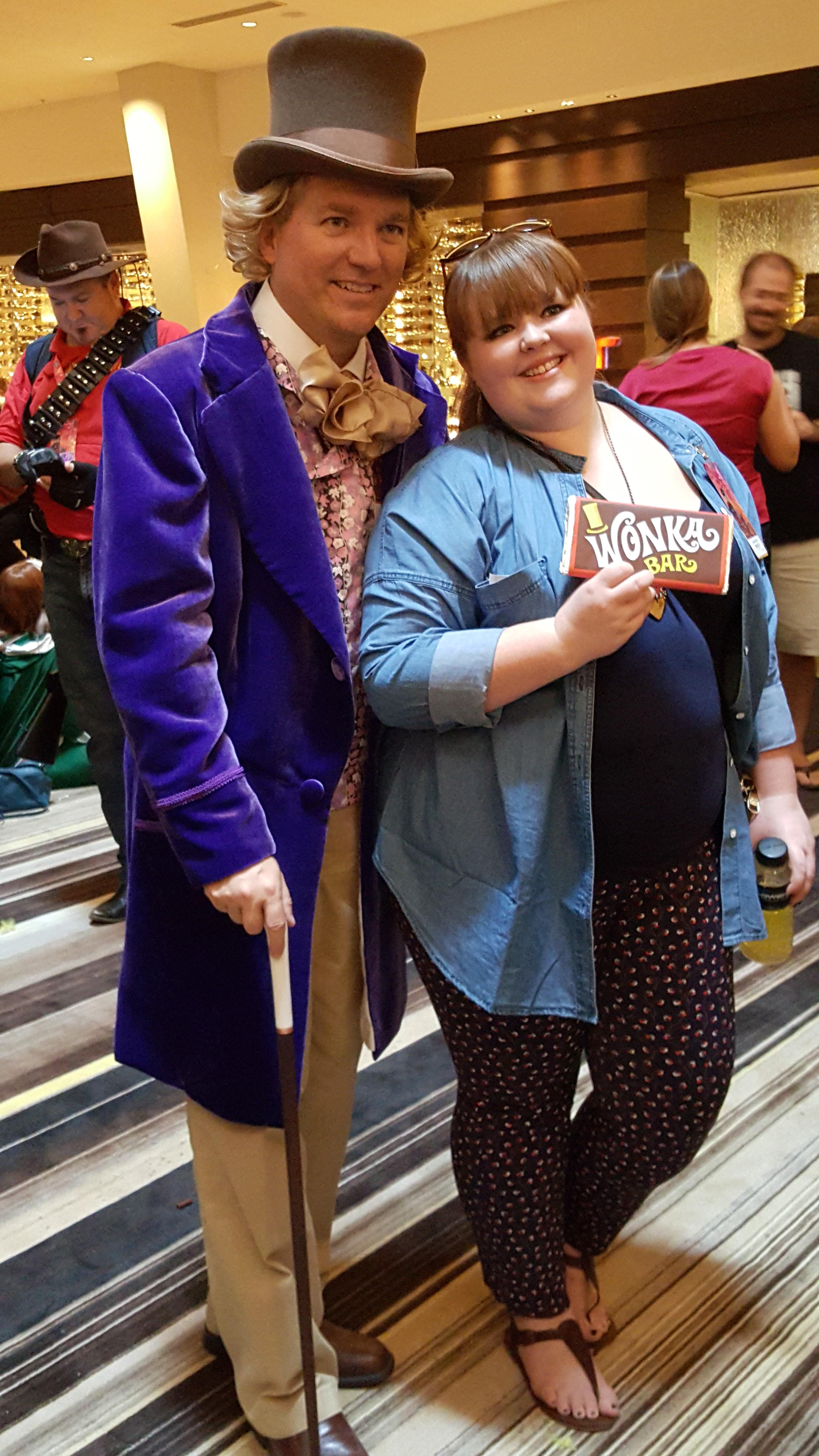 Me Posing With A Fan I Gave Her My Handmade Wonka Chocolate