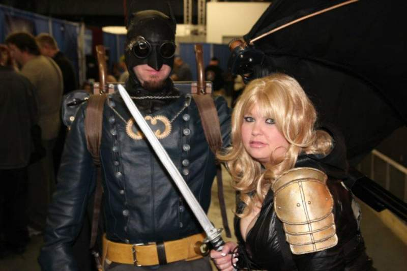 Me with my friend shane as Steampunk Batman