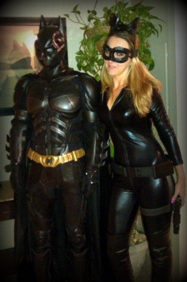 my dark knight and catwoman suits I built