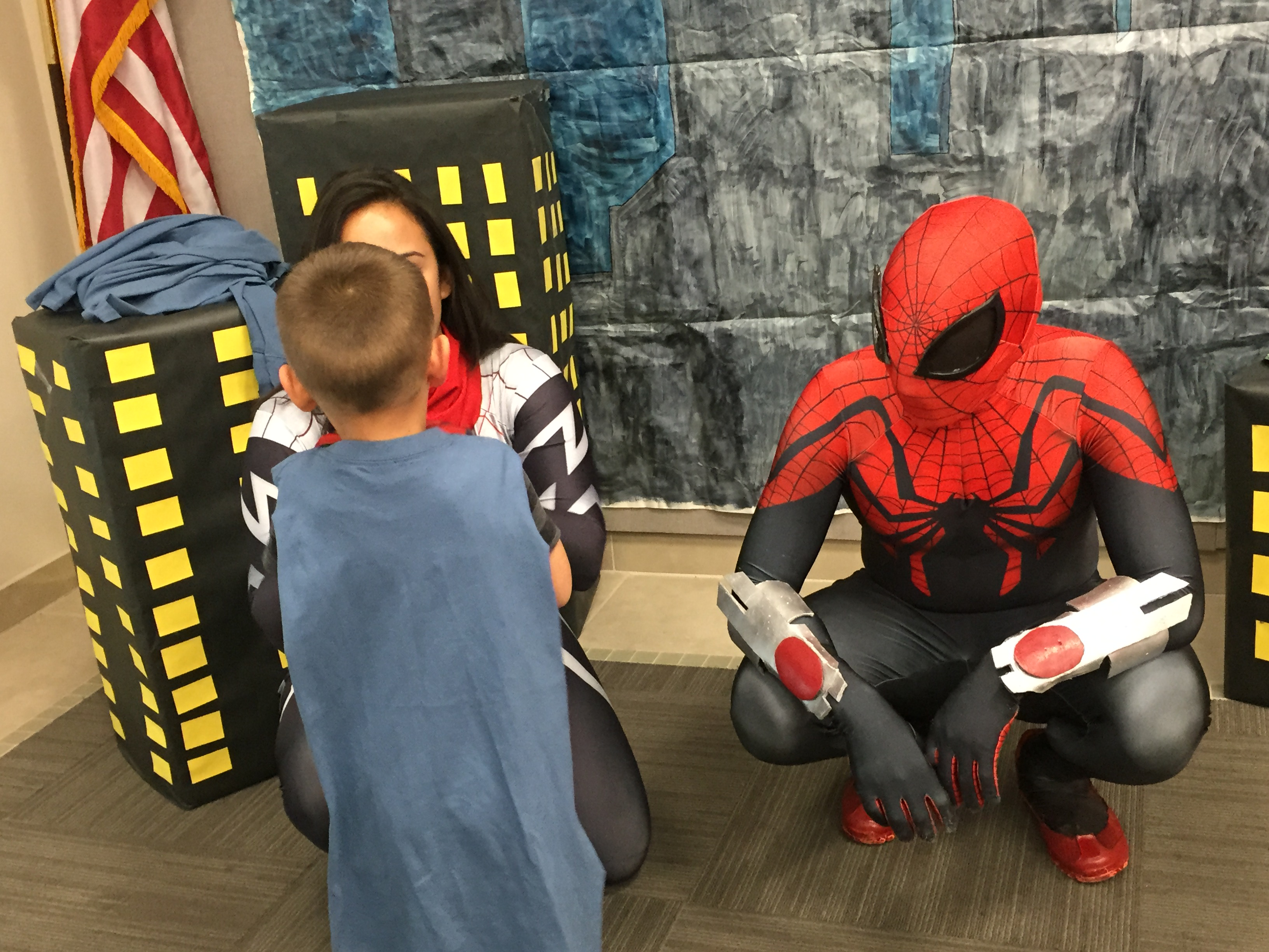 My favorite thing about my job is that I get to dress up as Spiderman and kids will look up to me, give me high fives, and talk to me as if I were Spi
