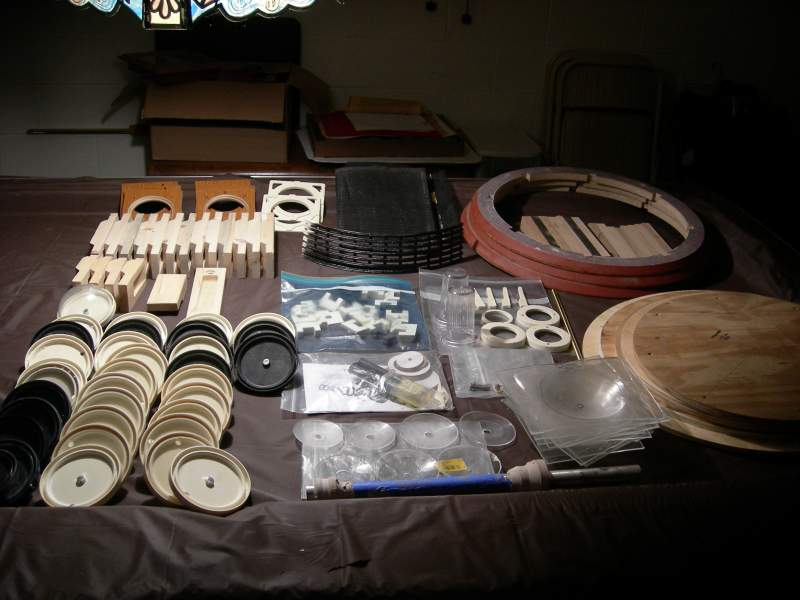 Neck rings,slates,misc. parts...