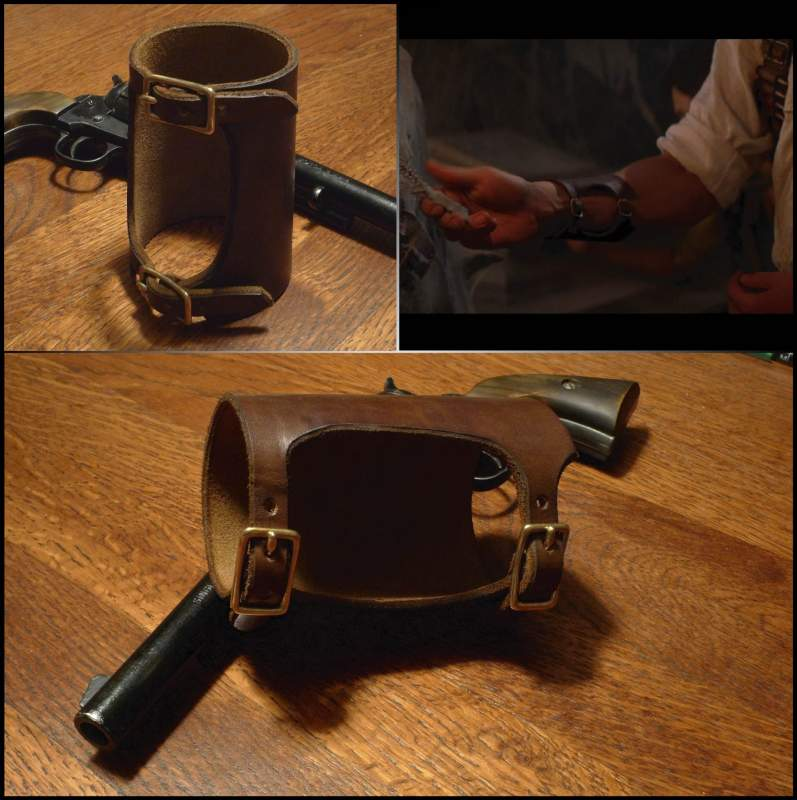 Rick O'Connell leather wrist cuff - comparison with original design