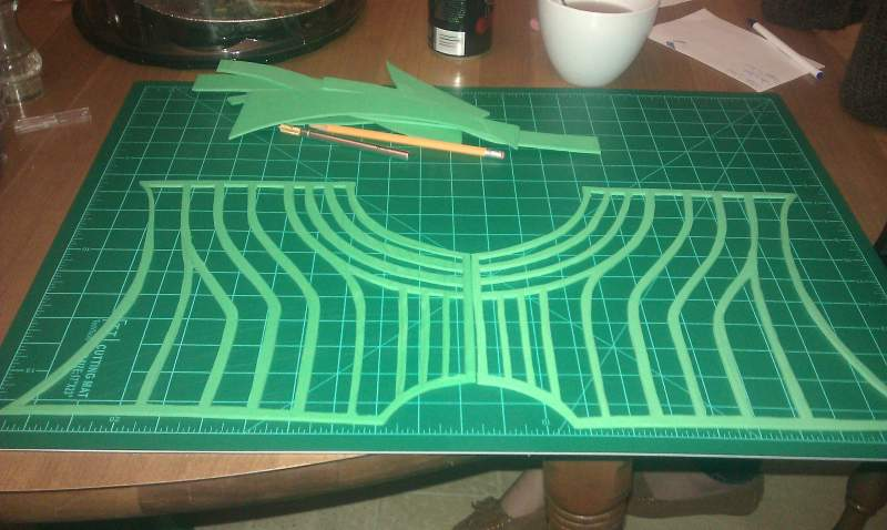 Second layer of the medieval Dr. Doom chest piece