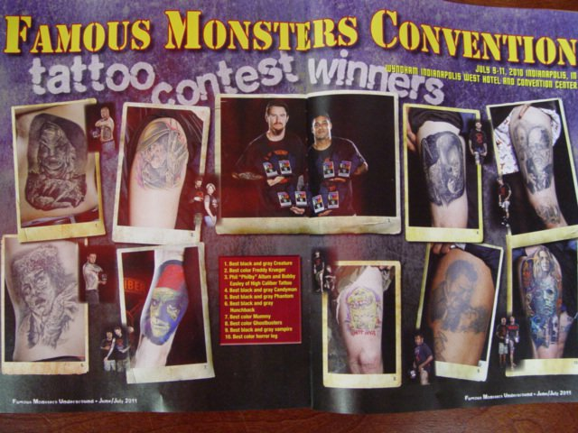 spread in Famous Monsters of me and bobbys awards for the day