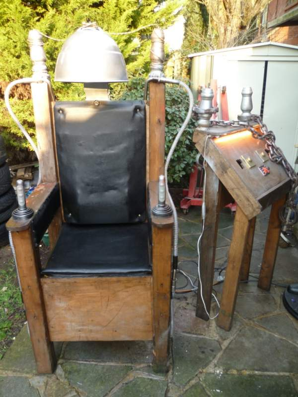 This is my Custom Built Electric Chair that was A Fully Functional prop, that used: