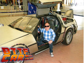 Warwick Davis Back to the Future Delorean Time Machine Hire