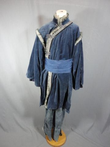 Water Tribe child's sized background costume from The Last Airbender.  COA from Paramount Pictures.  Comes with tunic with faux fur trim, belt sash, a
