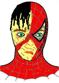 What Spidey looked like after the goblin got to him in the second to last scene in Spider-Man 1 (Sam Raimi)