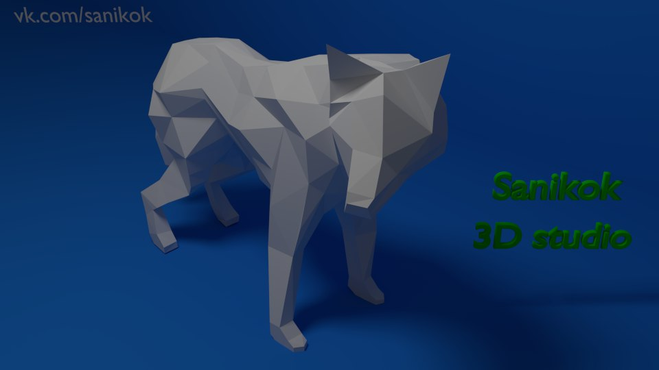 Wolf Low Poly models for pepakura | RPF Costume and Prop Maker Community